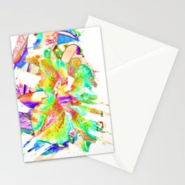 Abstract Flower Brush Stationery Cards