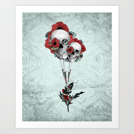 Evolution of poppies.  Art Print