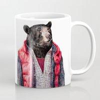 mcfly Mugs featuring Black Bear by Animal Crew