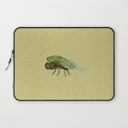 Cicada Playing a Sqeezebox Laptop Sleeve