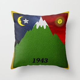 Bicycle Day 1943 Throw Pillow