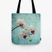 orchid Tote Bags featuring Orchid by KunstFabrik_StaticMovement Manu Jobst