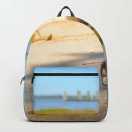At the beach by #Bizzartino Backpack