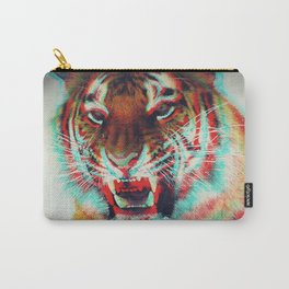 Abstract Techno Tiger Carry-All Pouch
