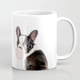 French Bulldog Puppy Blowing Pink Bubble Gum (sw) Coffee Mug