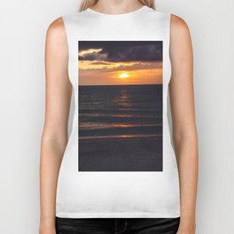 Sunset On Clearwater Beach, FL Biker Tank