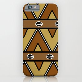 Mudcloth shells and diamonds iPhone Case
