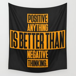 Lab No. 4 Positive Anything Elbert Hubbard Life Inspirational Quotes Wall Tapestry