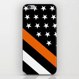Search & Rescue: Black Flag & Thin Orange iPhone Skin