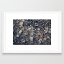 River Pebbles Framed Art Print