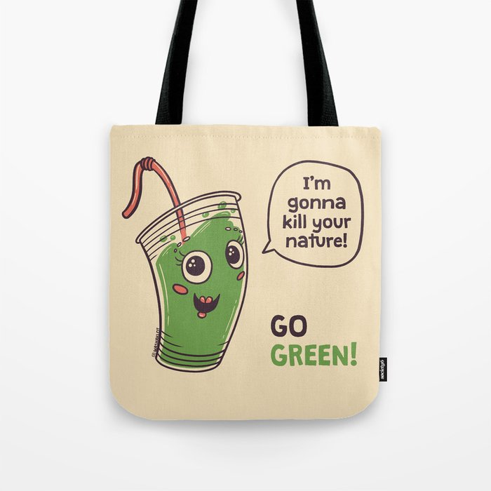 No to plastic cups! Tote Bag
