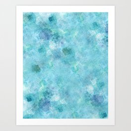 Blue Galaxy Art Print