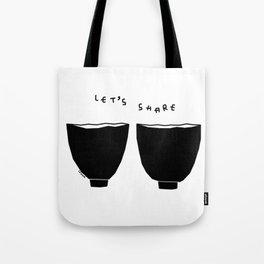 Let's Share Soup, Love, Smiles - Kitchen Illustration Tote Bag