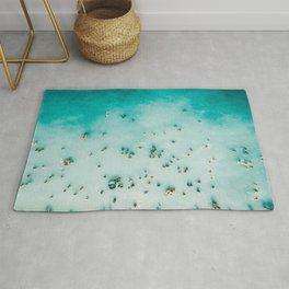 Beach Photography, Aerial Blue Ocean Print, Large Turquoise Ocean Poster, Coastal Wall Art, Beach Rug