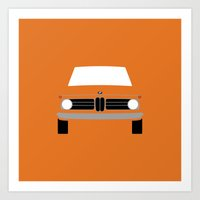 bmw Art Prints featuring BMW 2002 by Nick Steen
