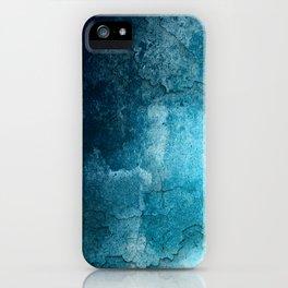 Aqua Teal Turquoise Textured iPhone Case