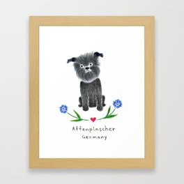A is for Affenpinscher Framed Art Print