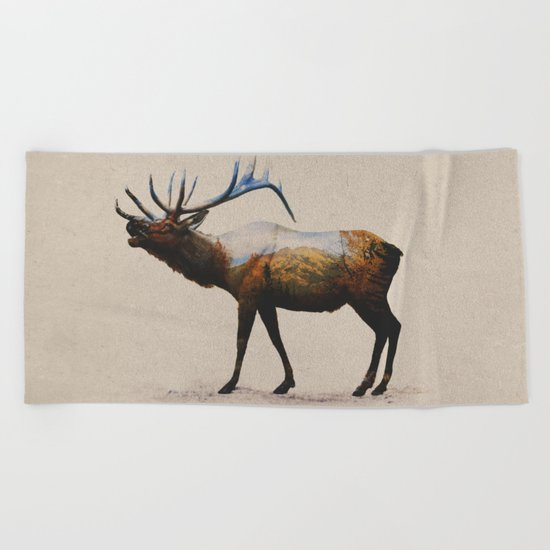 The Rocky Mountain Elk Beach Towel