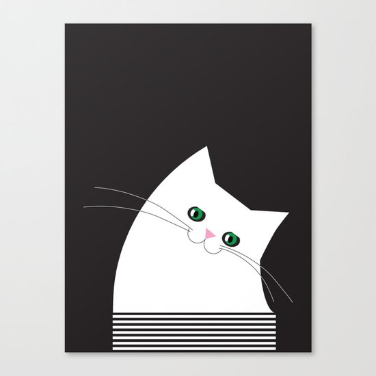 White Cat of Lisa Canvas Print