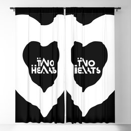 Two Hearts . Logo Blackout Curtain