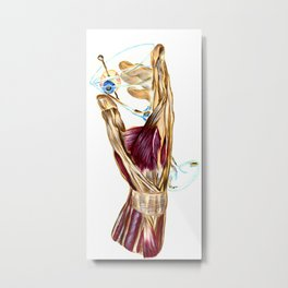 Anatomy of Martini Metal Print