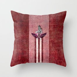 poloplayer red Throw Pillow