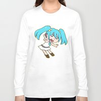 vocaloid Long Sleeve T-shirts featuring Miku Miku by tees4weebs