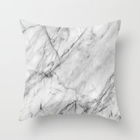 Throw Pillows featuring Marble by Patterns and Textures