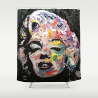 hollywood Shower Curtains featuring Hollywood by Matt Pecson