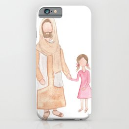 Jesus with Girl iPhone Case