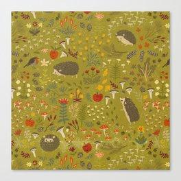Hedgehog Meadow Canvas Print