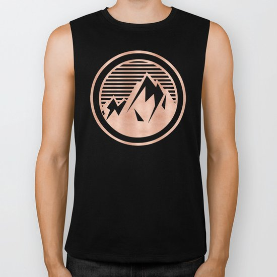 THE MOUNTAIN Rose Gold Biker Tank