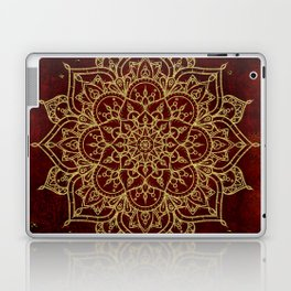 Deep Red & Gold Mandala Laptop & iPad Skin