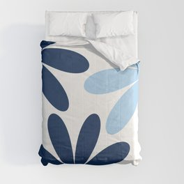 Minimal Abstract Navy Blue White 08 Comforters