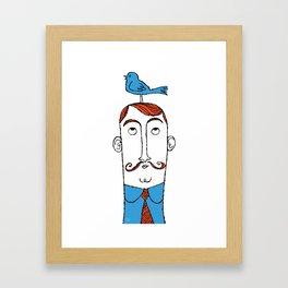 Birdie on Top Framed Art Print