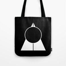 Triangle & circle BW Tote Bag