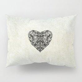 Transparent Heart Pillow Sham