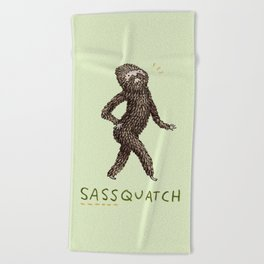 Sassquatch Beach Towel