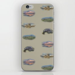 Highland landmarks in beige iPhone Skin