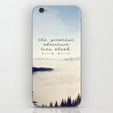 the greatest adventure- mountains iPhone & iPod Skin
