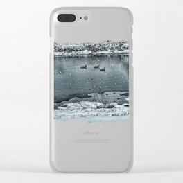 Geese in Rock River Clear iPhone Case