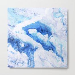 Ocean Marble Metal Print