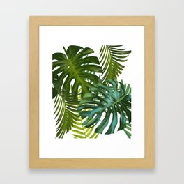 Palm and Monstra Framed Art Print