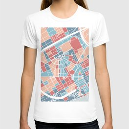 Detroit map T-shirt