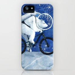 Polar bear on the Moon iPhone Case