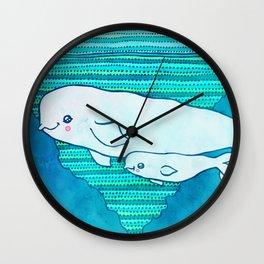 Belugas Wall Clock
