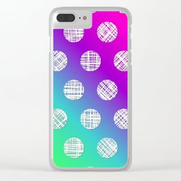 DP036-2 rainbow dotted Clear iPhone Case