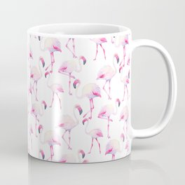 Tropical elegant watercolor pink flamingo bird Coffee Mug