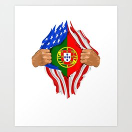 Portuguese Blood Inside Me T-Shirt | Portugal Flag Gift Art Print