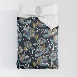 deep sea anglerfish Comforters